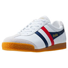 Gola Harrier Mens Trainers White Navy Red New Shoes