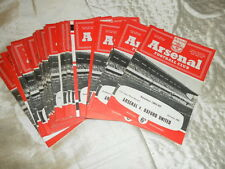1962/3 ARSENAL HOME PROGRAMME INC LEAGUE FA CUP TESTIMONIALS AND NEUTRAL GAMES