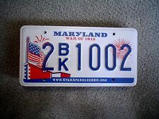 MARYLAND WAR OF 1812      LICENSE PLATE    BUY ALL STATES HERE