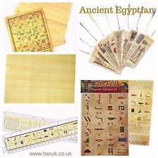 Egyptian Papyrus paper replica coins Artefacts hieroglyphic magnets Montessori