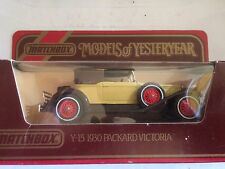 1984 Y15 Matchbox Models Of Yesteryear 1930 Packard Victoria