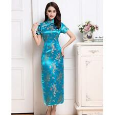 New style Chinese women's silk long dress evening Cheongsam Sz: 6 8 10 12 14 16