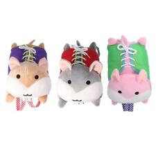 Kids Zip Button Snap Lace Learning Aid Toys Hamster Plush Doll for Toddlers