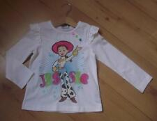 TOY STORY Girls Clothes 2-3 Years NEW White JESSIE Print Long Sleeved Top Cotton