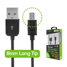 Cellet 5FT Long Micro USB Charging Data Sync Charger Cable Black For Phones