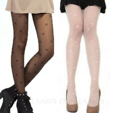 womens hosiery sheer Tights little bow Sexy ribbon print Stockings Pantyhose