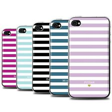 Personalised Custom Stripes/Striped Phone Case for Apple iPhone 4/4S/Cover
