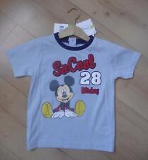 DISNEY Boys Clothes upto 3 Years Blue MICKEY MOUSE Cotton T-Shirt Top