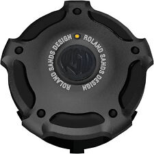 RSD Misano Fuel Gauge Cap for Harley-Davidson 0703-0596 Black Aluminum Ops Each