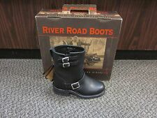 River Road Twin Buckle Boot, Womens Black