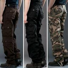 Mens Outdoor Comabt Overall Cargo Army Military Cotton Jeans Trousers