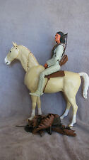 MARX Action Doll Figure Western JOHNNY WEST GERONIMO INDIAN Toy W/ HORSE & ACCS