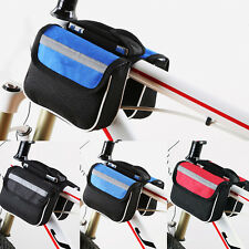 New Bike Bicycle Front Pannier Frame Tube Bag Outdoor Accessories Storage Holder