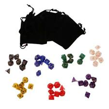 Lot of Acrylic Dice Beads with Number + Black Bags True to Life