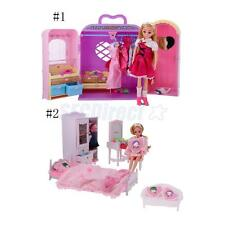 Plastic Furniture Toy Set Doll House Family Miniature for Kids Children Toys