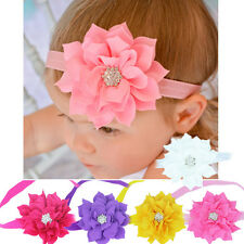 Hair Accessories Newborn Baby Girl Rhinestone Flower Headband Hair Band Gifts