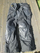 MENS BELSTAFF BLACK LEATHER & TEXTILE SIZE LARGE MOTORCYCLE TROUSERS