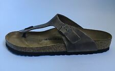 Birkenstock Gizeh Classic Sandals - Waxed Leather - Antique Brown