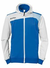 Kempa Mens Emotion Hooded Jacket Full Zip Track Sports Top Training Blue White