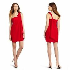 NWT $148 MAXANDCLEO 'ALANNA' DRESS 6/8/10/12 CRIMSON RED K/L ONE SHOULDER CHIFFO