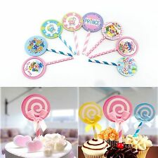 6X BIRTHDAY PARTY BABY SHOWER SUPPLIES CUPCAKE CAKE PICKS TOPPERS Decoration