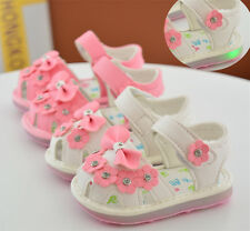 Summer Cute Infant Shoes Lights Toddler Baby Sandals Walking Shoes Princess Size