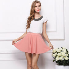 Fashion Women Retro High Waist Pleated Floral Chiffon Mini Short Skirt Sweet Hot
