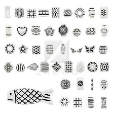 10-500pcs Lots Tibetan Silver Loose Spacer Meatal Charm Beads Jewelry 50 Style
