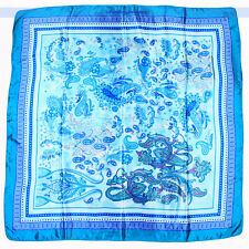 "Classic Paisley Scarf Wrap Bright Color Flower Square 34""x34"" 
