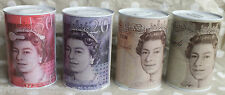 £5 £10 £20 £50 Sterling Large Sealed Money Tin Piggy Bank Money Savings Box NEW