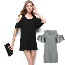 Summer Beach Hot Hip Length Batwing Sexy Casual Party Club Sexy Hot Mini Dress