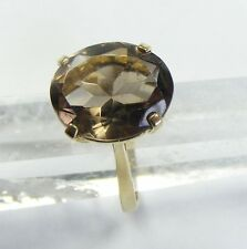 Vintage 9ct Gold Smokey Quartz Ring
