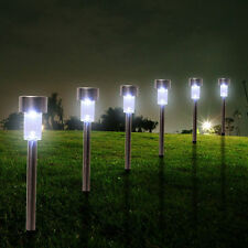Bright Outdoor Garden LED Solar Landscape Path Lights Stainless Steel Yard Lamp