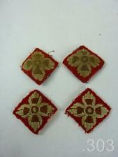 2 Pairs WWII British Infantry Officer's Army Cloth Rank Pips Badges Lieutenant
