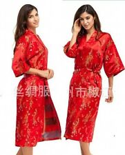 Fashion Chinese Women's silk/satin Kimono Robe Gown sleepwear Sz: S M L XL 2XL