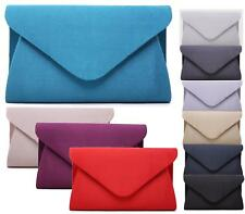 Ladies Large Clutch Bag Bridal Prom Party Evening Envelope Satin Handbag