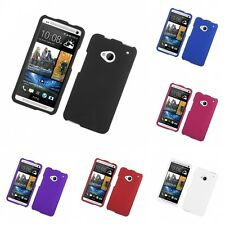 For HTC One M7 Hard Snap-On Rubberized Phone Skin Case Cover