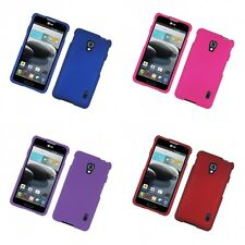 For LG Optimus F6 D500 Hard Snap-On Rubberized Phone Skin Case Cover