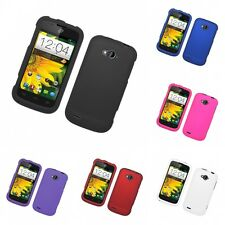 For ZTE Savvy Z750C Hard Snap-On Rubberized Phone Skin Case Cover