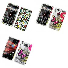 For Motorola Droid Razr Maxx Hard Phone Case Design Rubberized Snap-On Cover