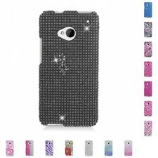 For HTC One M7 Case Diamond Bling Luxury Fashion Cute Hard Cover