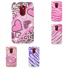 For Motorola Droid Turbo Case Diamond Bling Luxury Fashion Cute Hard Cover