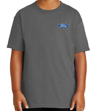 Licensed FORD Logo on Left Chest Kid's T-shirt Ford Emblem Tee for Youth - 1091P