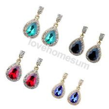 Women's Teardrop Clear Drop Dangle Earrings Bridal Wedding Party Jewelry Gifts