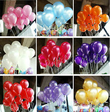 "100pcs 10""Birthday Party Wedding Balloon Colorful Pearl Latex Celebration"