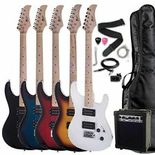 "39"" Full Size Electric Guitar Starter Package with Amp, Bag, Tuner, Cable, Picks"