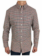 Levis Mens L/S 1 Pocket Check Shirt in Navy/Red/White