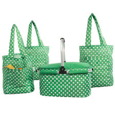 Insulated Shopping Picnic Basket Cooler Handles Reusable Foldable Tote Bags Set