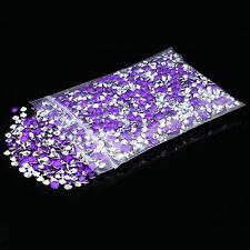 4.5mm 1/3CT Purple Silver Back Diamond Confetti Wedding Table Scatter Crystals