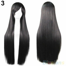 New Womens Ladys Synthetic Hair Long Anime Cosplay Wigs Straight Full Wigs